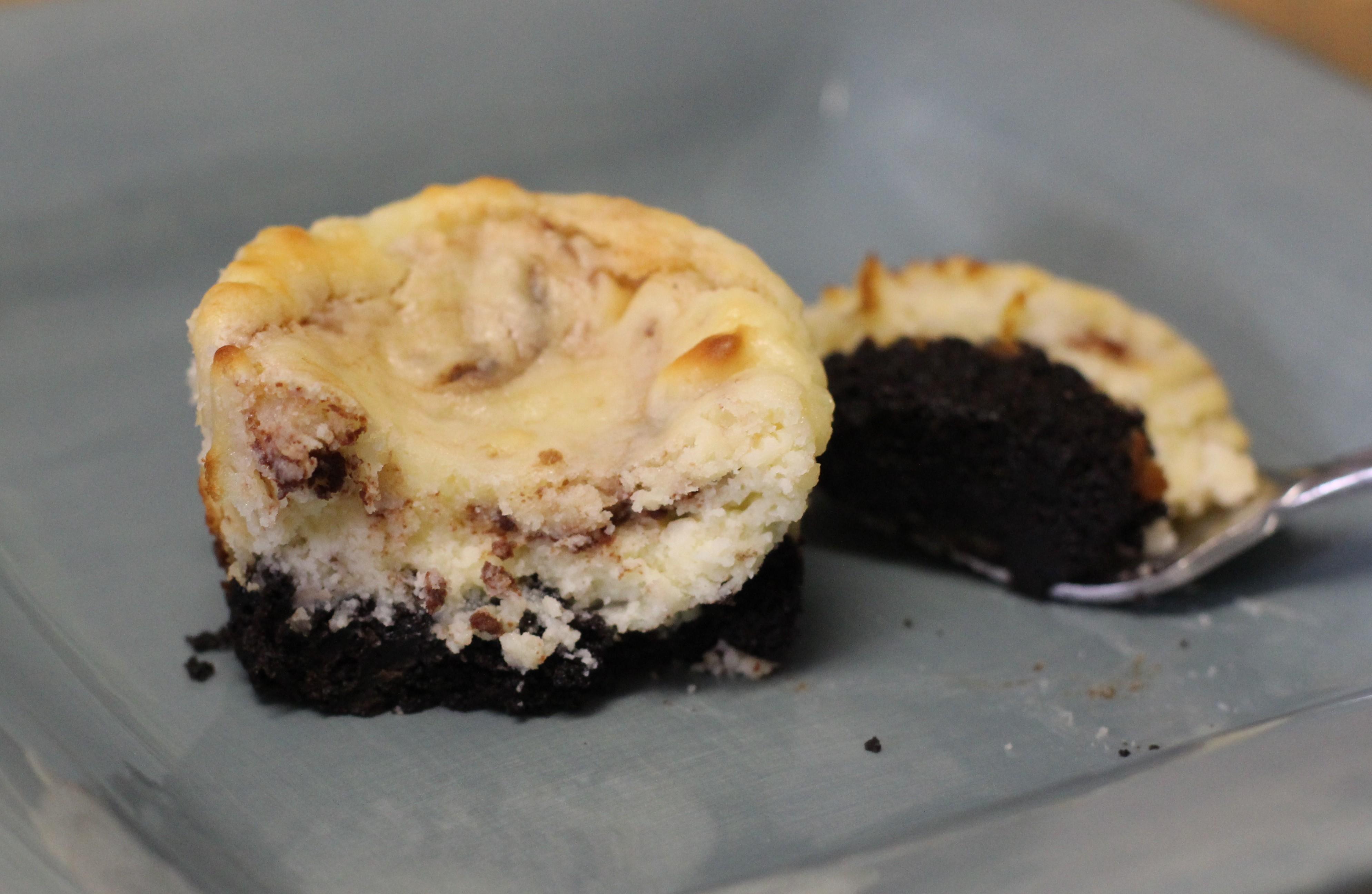 Mini Chocolate Swirl Cheesecakes