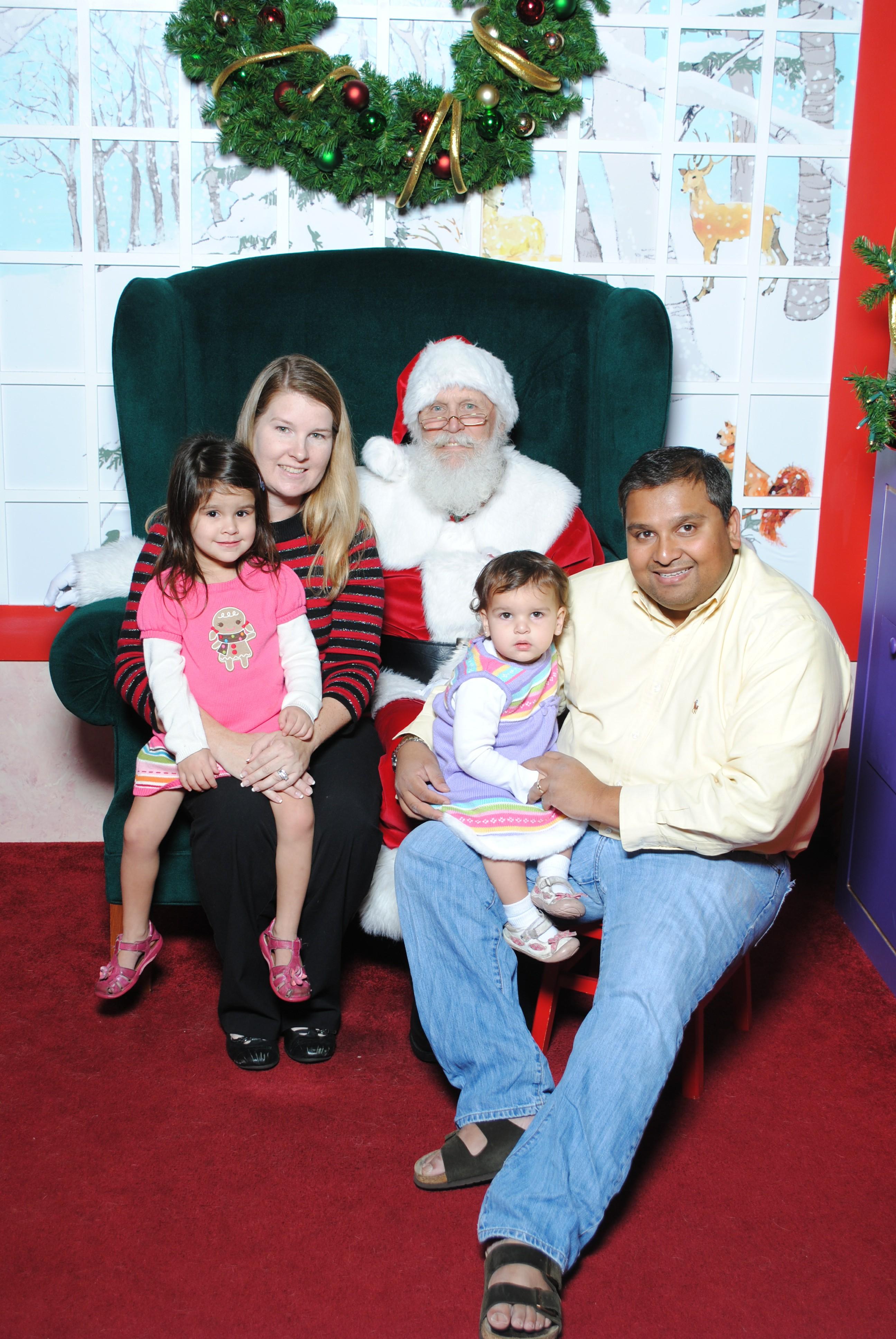 Wordless Wednesday: Visiting Santa