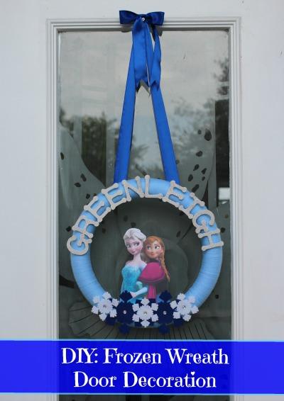 DIY Frozen Wreath Door Decoration