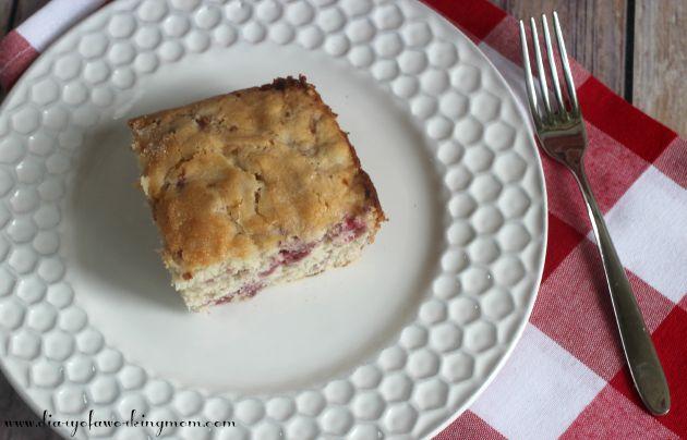 Raspberry Buttermilk Breakfast Cake Instructions