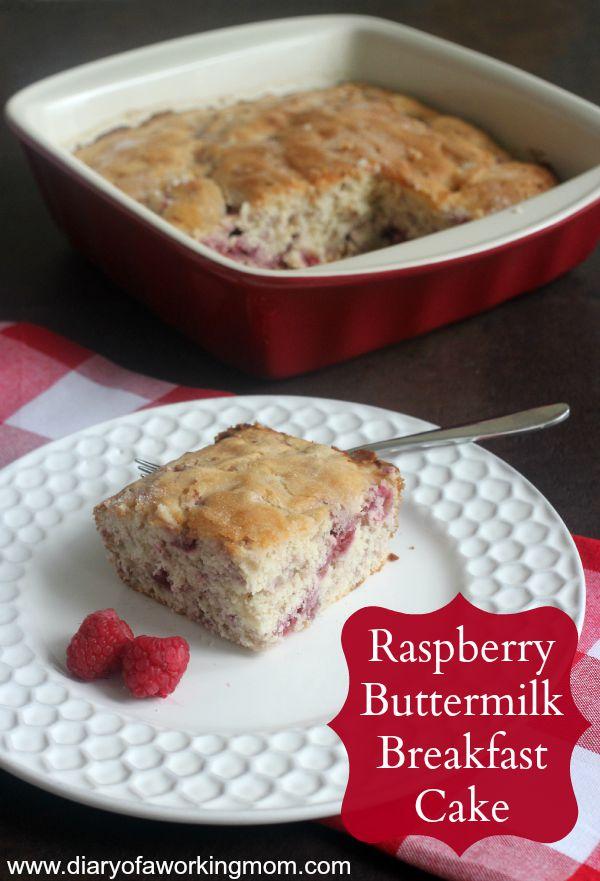 Raspberry Buttermilk Breakfast Cake Recipe