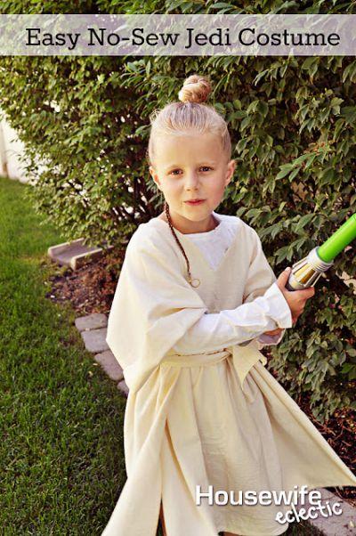 DIY No Sew Jedi Costume