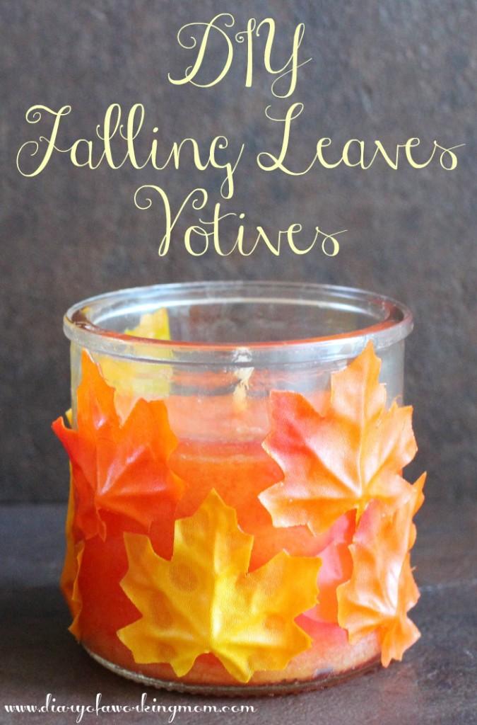 DIY Falling Leaves Votives