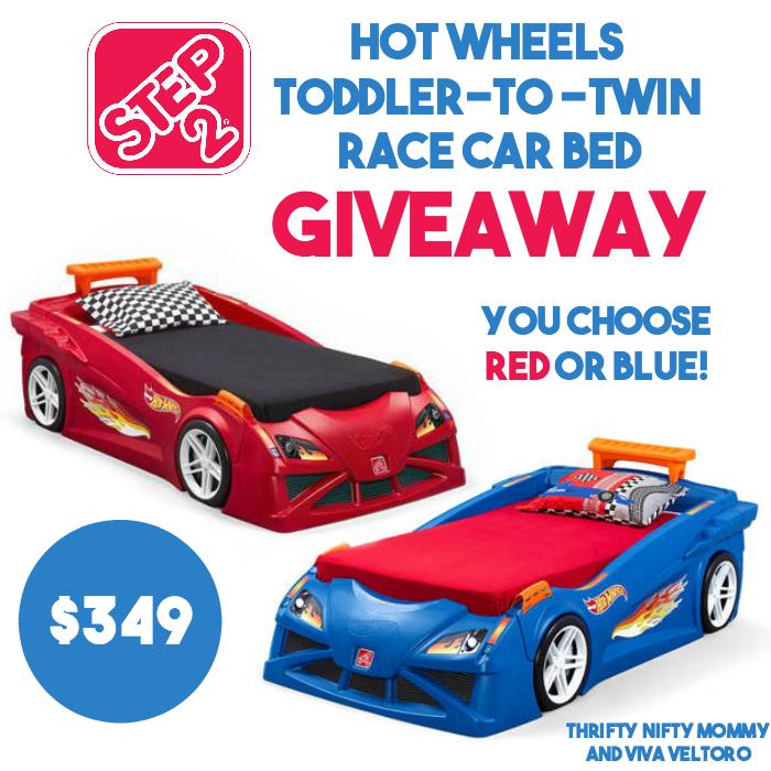 hot wheels car bed blue 2