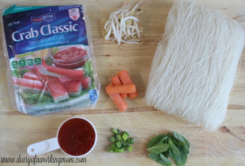 Thai Crab Noodles Ingredients
