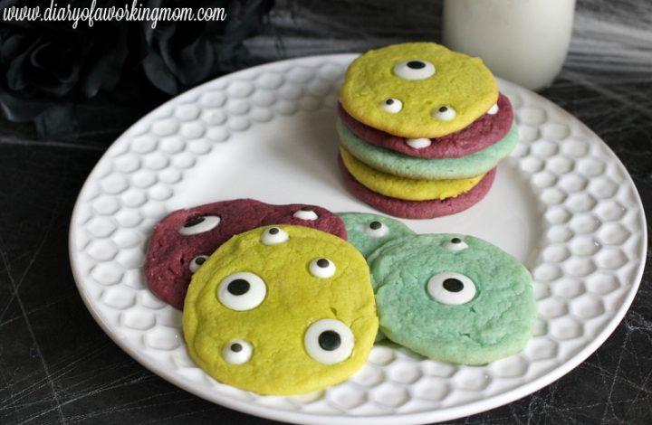 Easy Monster Cookies for Kids {Recipe}